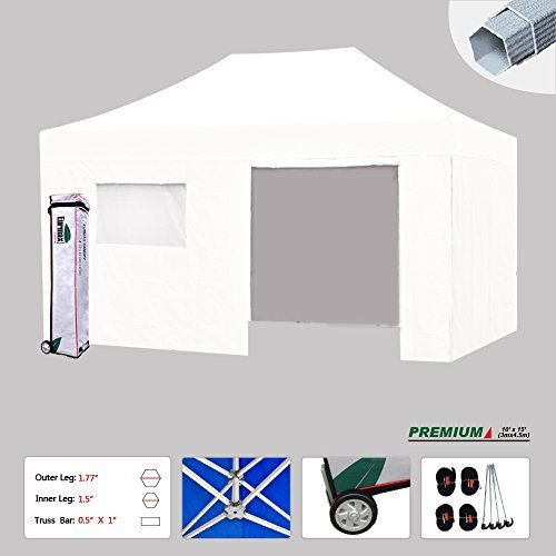 New Eurmax 10x15 Ft Premium Ez Pop Up Instant Canopy Outdoor Canopy Party Tent Gazebo Commercial Grade 4 Removable Zipper Canopy Outdoor Hiking Tent Party Tent