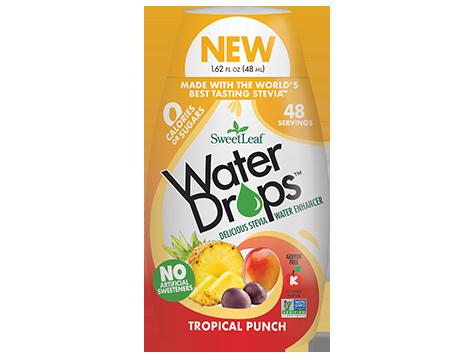 Sweetleaf Water Drops Tropical Punch Flavored Stevia Sweetener Ingredients Vegetable Glycerin Purified Water Tropical Punch Flavors Sugar Free Diet