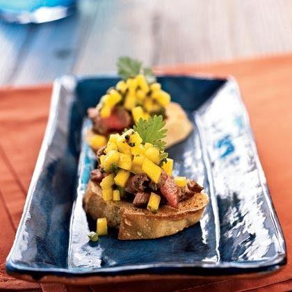 Lovely Beef Tenderloin Bruschetta With Brown Butter   An Eye For Appetizers   Cooking  Light Idea