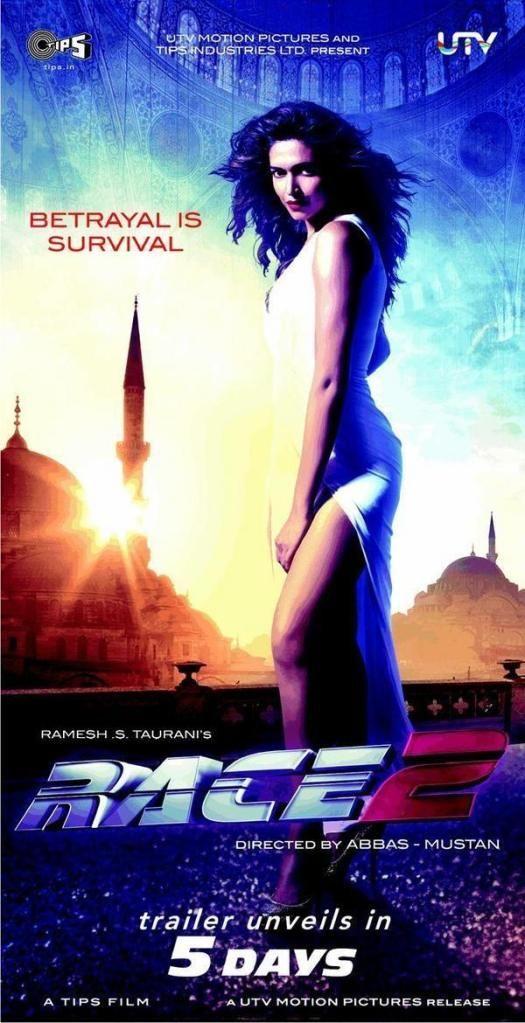 Race 2 Deepika Padukone 2nd Poster News Race 2 Movie Hindi Movies Bollywood Movie