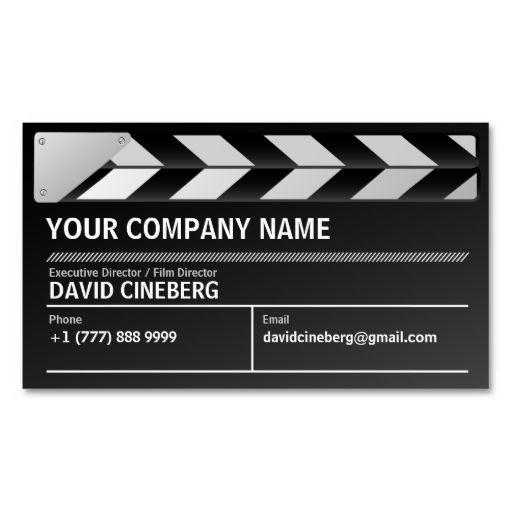 Film Director Executive Producer Business Card Zazzle Com In 2021 Film Director Business Cards Business Cards Simple