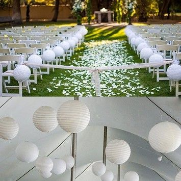 White 24 Pieces 3 Sizes 6 8 12 Chinese Round Sky Paper Lanterns Lamp Birthday Party Indoor Decor Other Wholesale Wedding Decor Paper Lanterns White Paper Lanterns