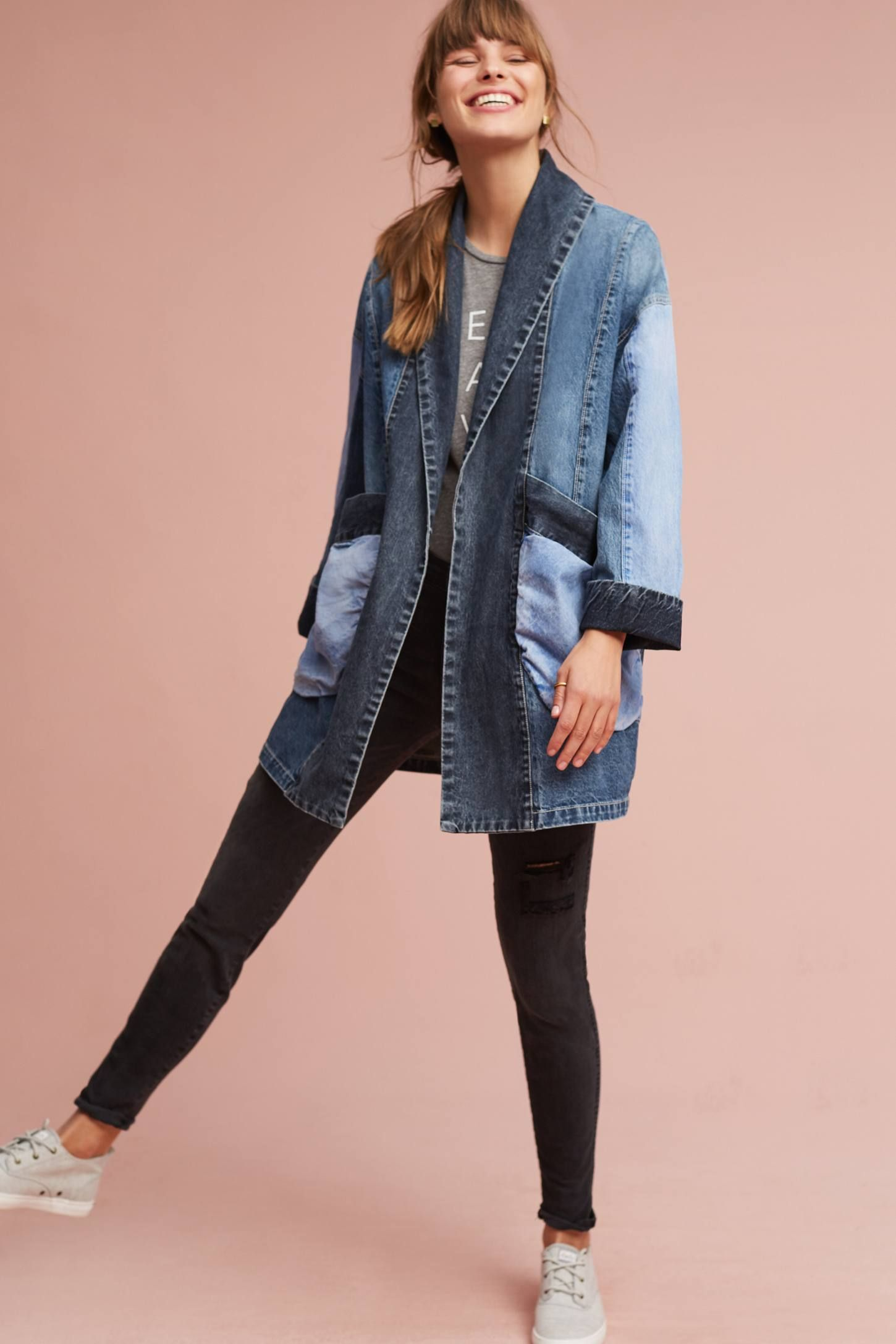 f9f127fe1f64 Shop the Pilcro Jadira Denim Kimono Jacket and more Anthropologie at  Anthropologie today. Read customer reviews