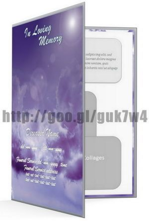 Memorial service program template Microsoft Word with beautiful - brochure format word