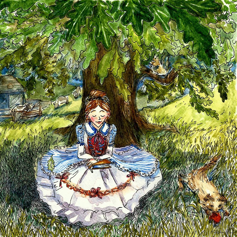 My first impression is of Alice's journey. It is an ode to imagination that leaves a confounding impression, like dreaming.  I didn't think about it as a surreal story, because when we're children, fantasy stories are a part of our world.  Over the years, the book helps us to return to that world.  -  Kristina Muñoz http://on.fb.me/ZV4QLb