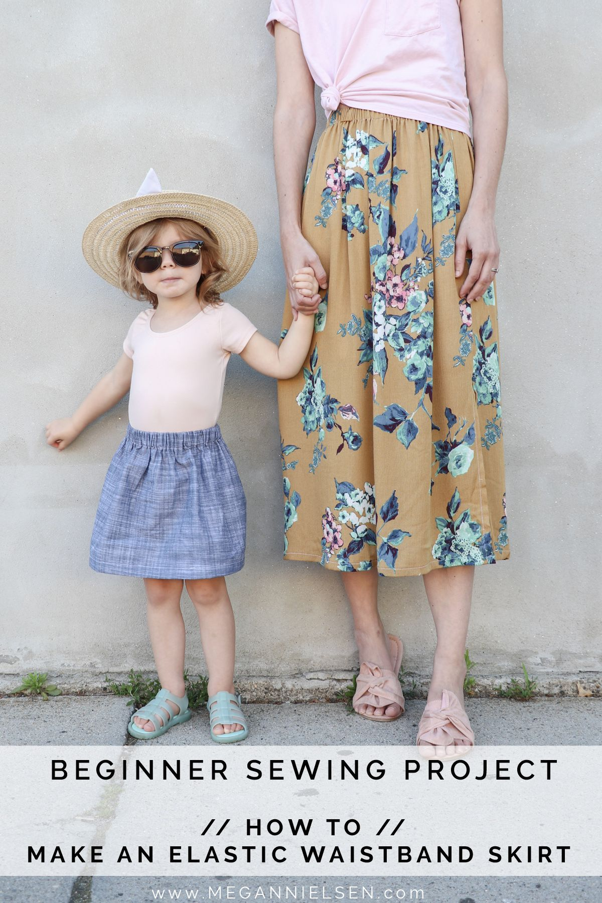 Beginner sewing projects - How to make an elastic waistband skirt — megan nielsen design diary