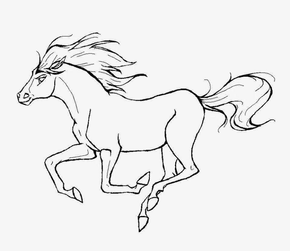 Jumping runing horse hd coloring pages | Denenecek projeler | Pinterest