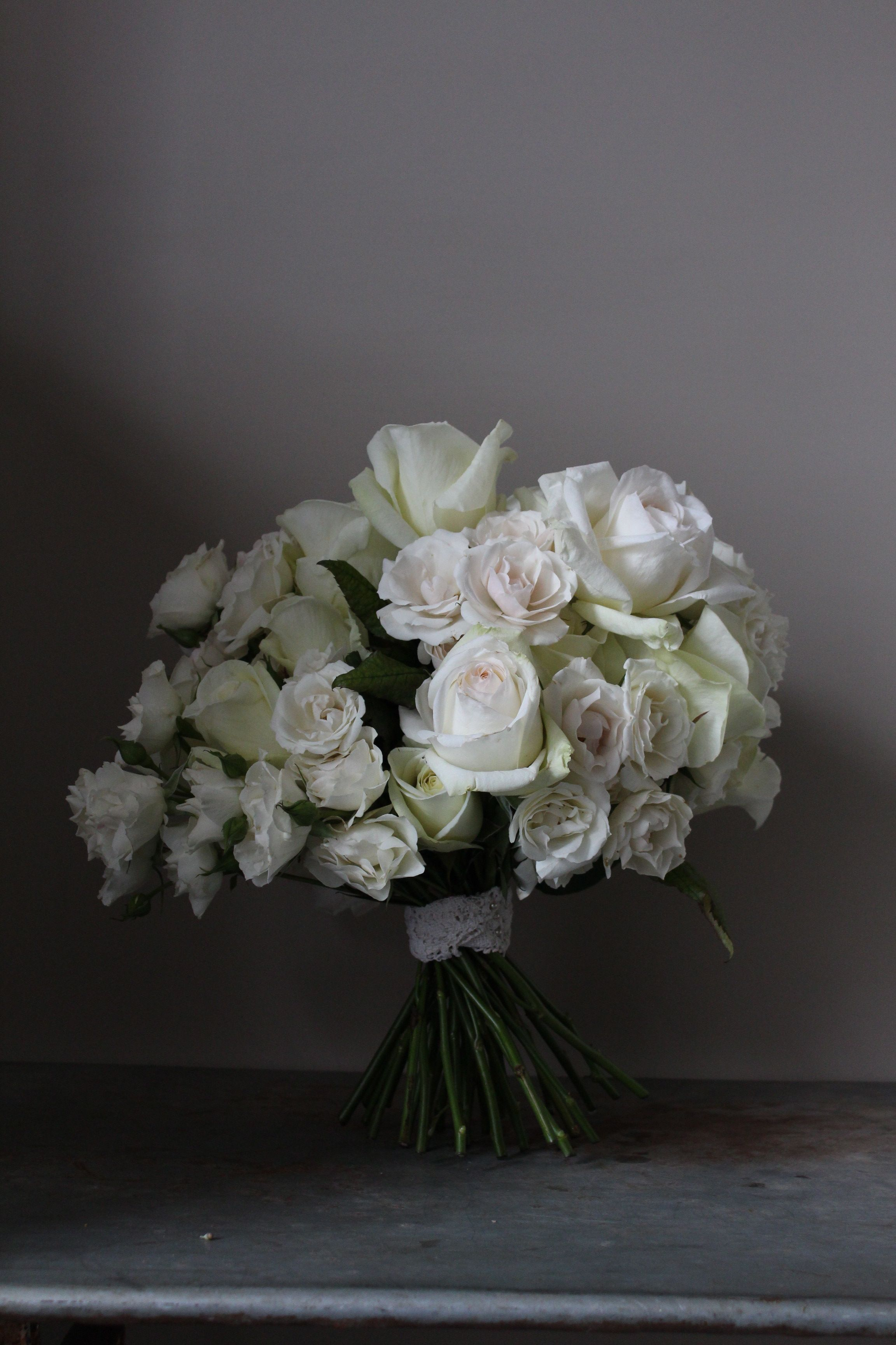 blown scented  roses