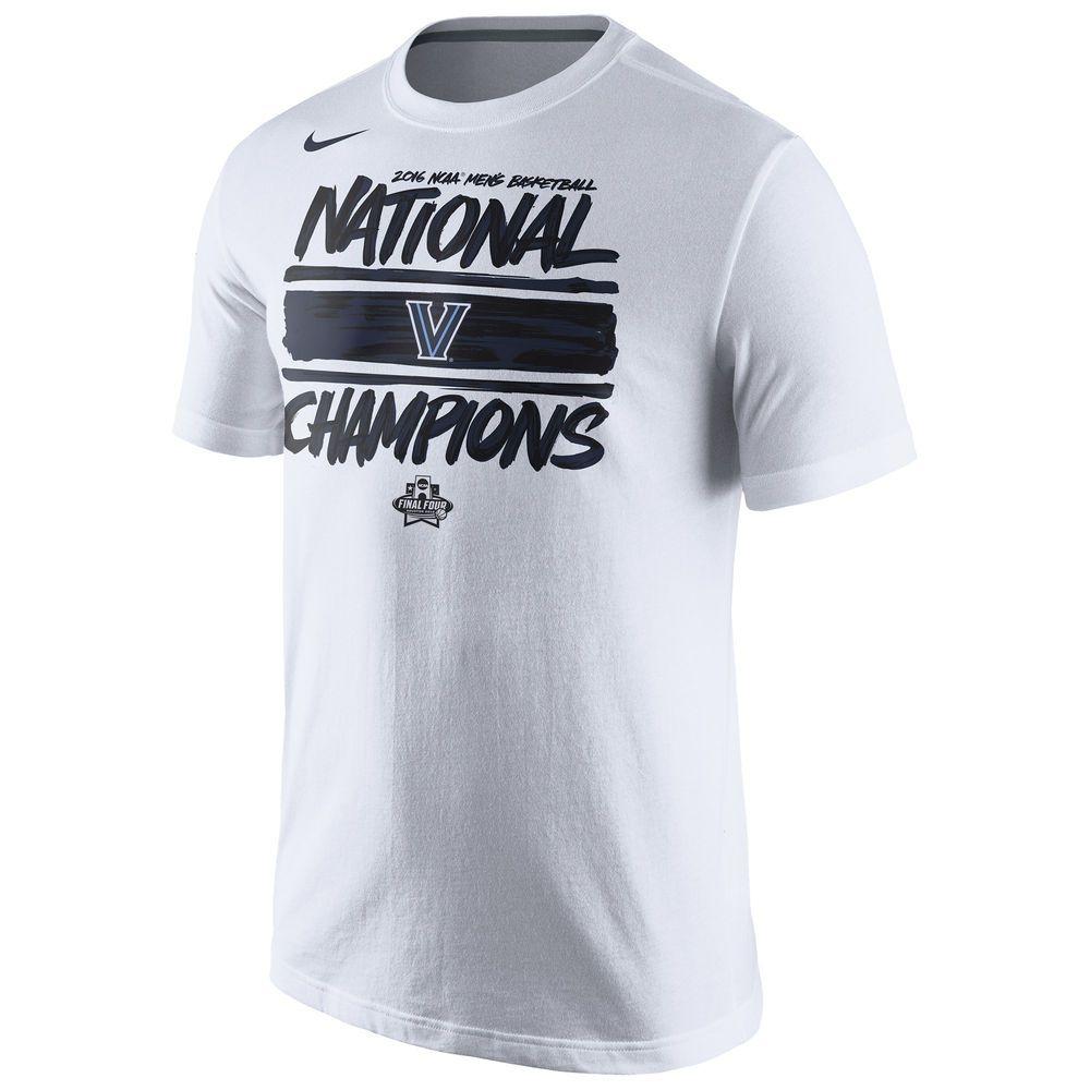 Men S Nike White Villanova Wildcats 2016 Ncaa Men S Basketball National Champions Locker Room T Shir Champion Shirt Basketball Uniforms Design College T Shirts