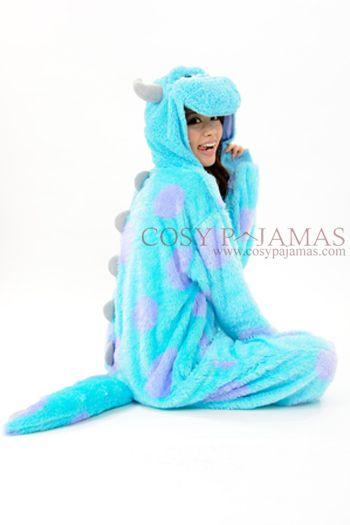 tout neuf 746f9 470d5 Monsters Inc. Sulley kigurumi Onesie Pajama Costume ...