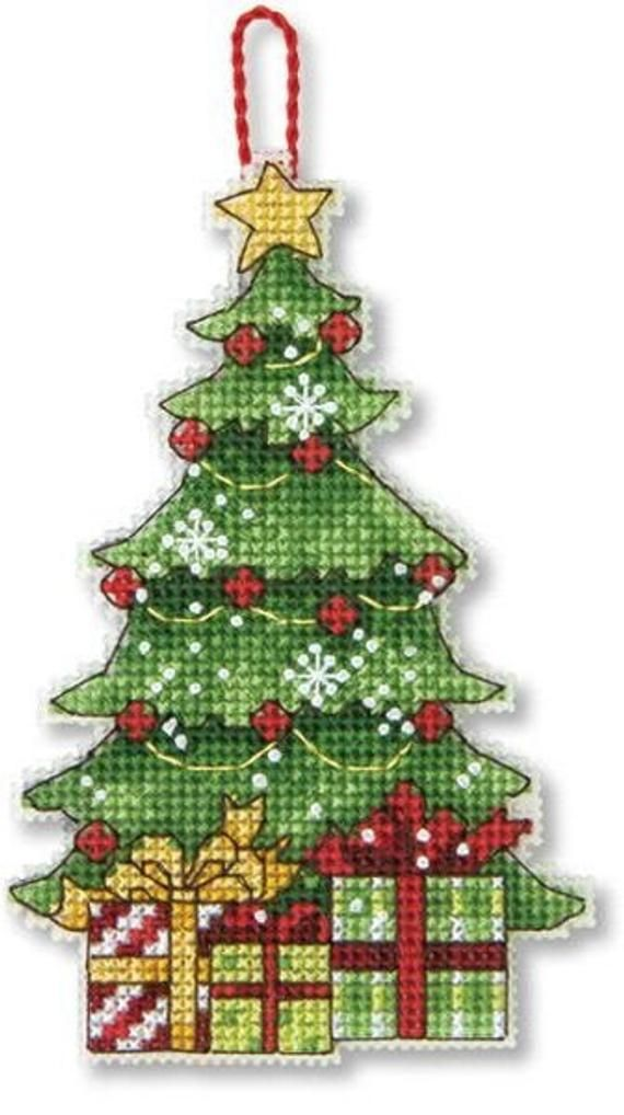 Modern Mini Cross Stitch Kit Embroidery Kit On Plastic Etsy In 2020 Cross Stitch Patterns Christmas Christmas Cross Stitch Cross Stitch Tree