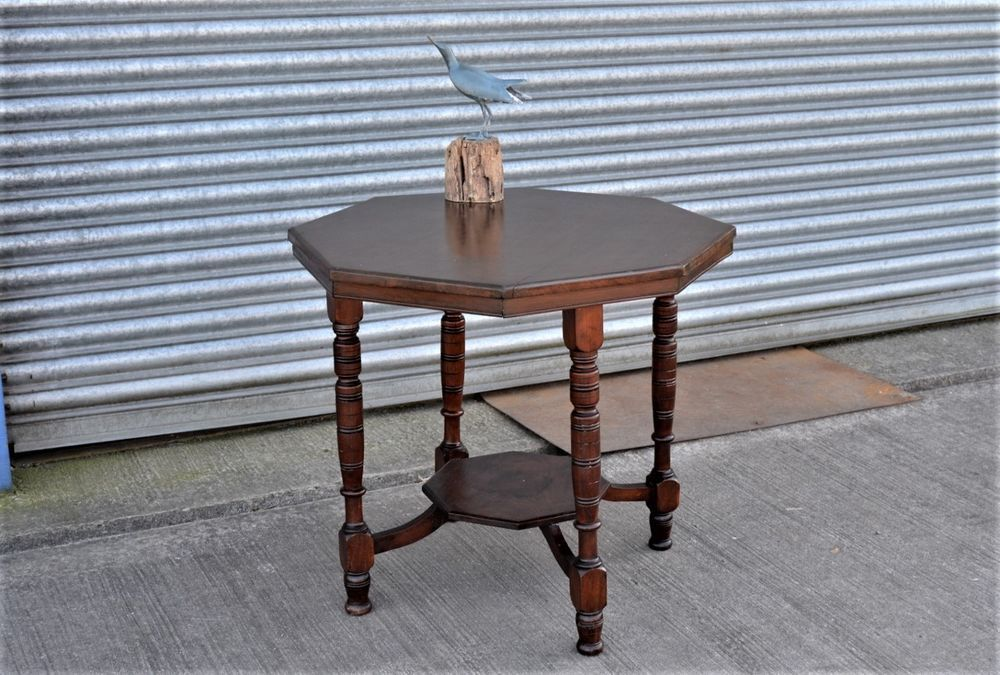 Antique Mahogany Octagonal Table. Octagonal side table