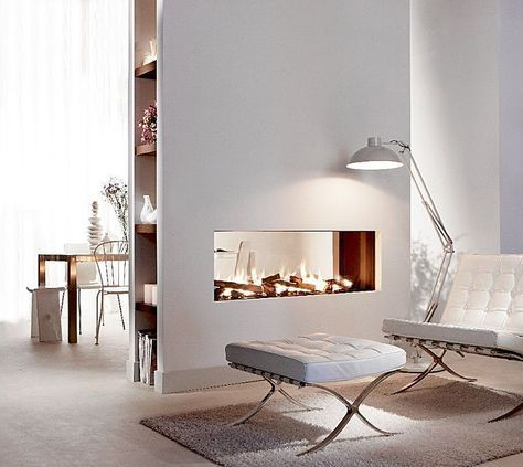 Image result for double sided electric fireplace Fireplaces