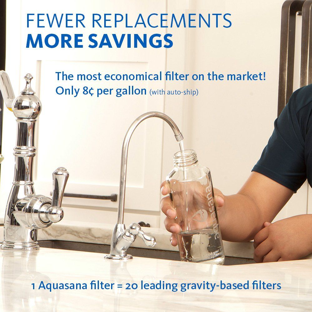 Aquasana 3Stage Max Flow Under Sink Water Filter System with Brushed ...