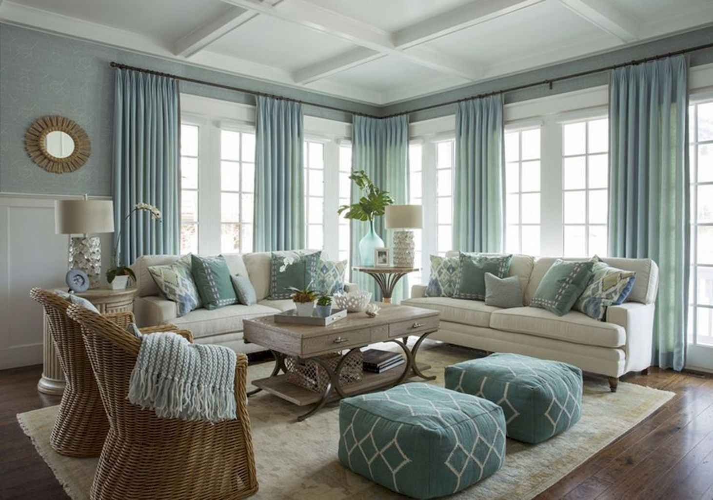 19 Gorgeous Coastal Living Room Decor Ideas #coastallivingrooms