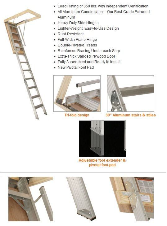 10 4 Ceiling Height Rough Opening 22 5 X 54 Sat 100 325 55 Ladder Ceiling Height Attic Stairs Ladder