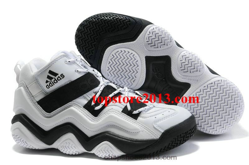 in stock 0582d 8f86d Adidas Top Ten 2000 White-Black