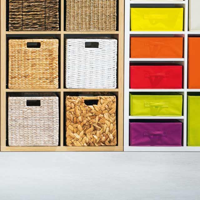 Boîte de rangement carrée en fibre naturelle Mixxit | Boite de rangement, Panier rangement et ...