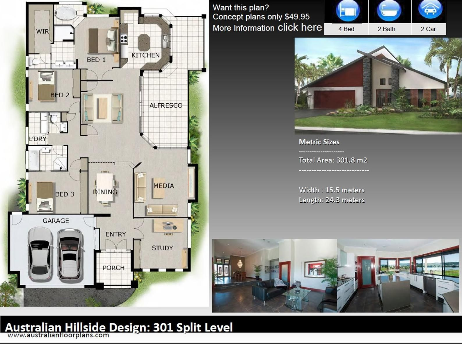 4 Bedroom House Designs Australian And International Home Etsy 4 Bedroom House Designs 4 Bedroom House Plans Bedroom House Plans
