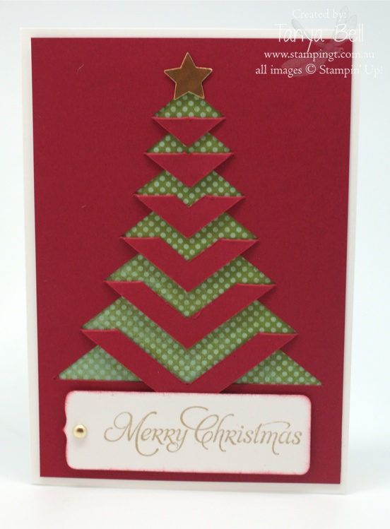 Lace Christmas Tree Stampin Up Australia Independent Demonstrator Tanya Bell Sunshine Christmas Cards Handmade Christmas Cards To Make Christmas Cards