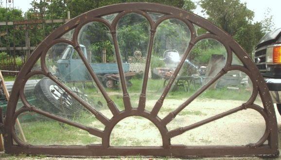 Large Solid Chestnut Half Round Transom Window No Glass Good