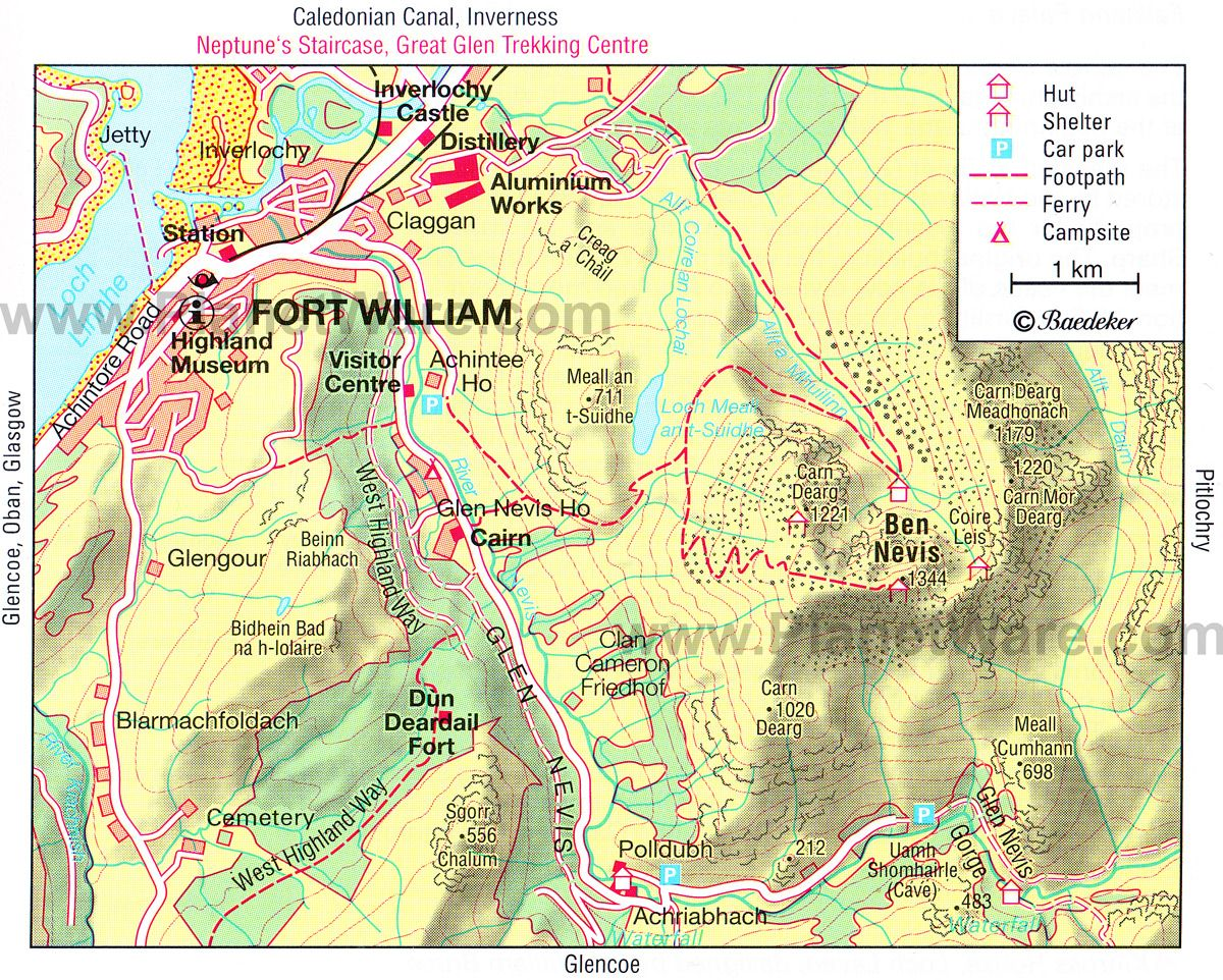 Fort William Map Tourist Attractions Travel Pinterest Forts