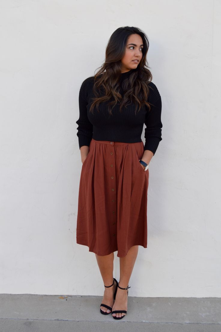 7ebc79c5c8 A modest look for office parties and family gatherings this holiday season!  Rock Outfits,
