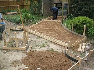 Great Landscape Construction   How To Build Concrete Patios U0026 Walks