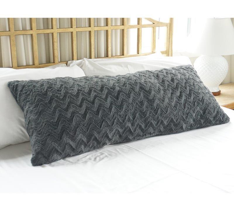 plush body pillow steel gray buy body