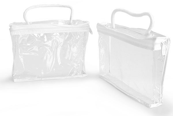 Vinyl Bags Clear Vinyl Bags W White Zipper And Rope