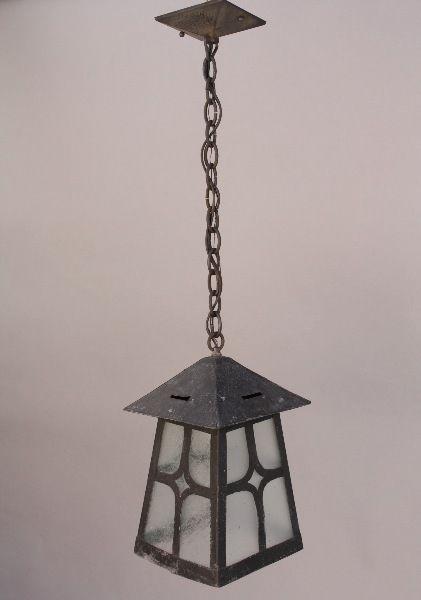 1920s Large Exterior Pendant Light California Craftsman Outdoor Lighting (8325)