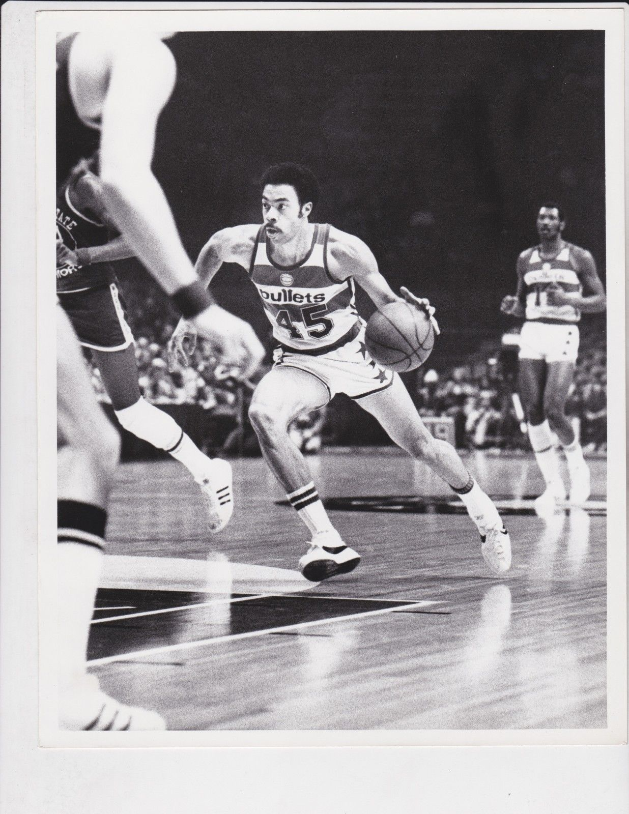 Phil Chenier Baltimore Bullets 1975 Original 8x10 graph