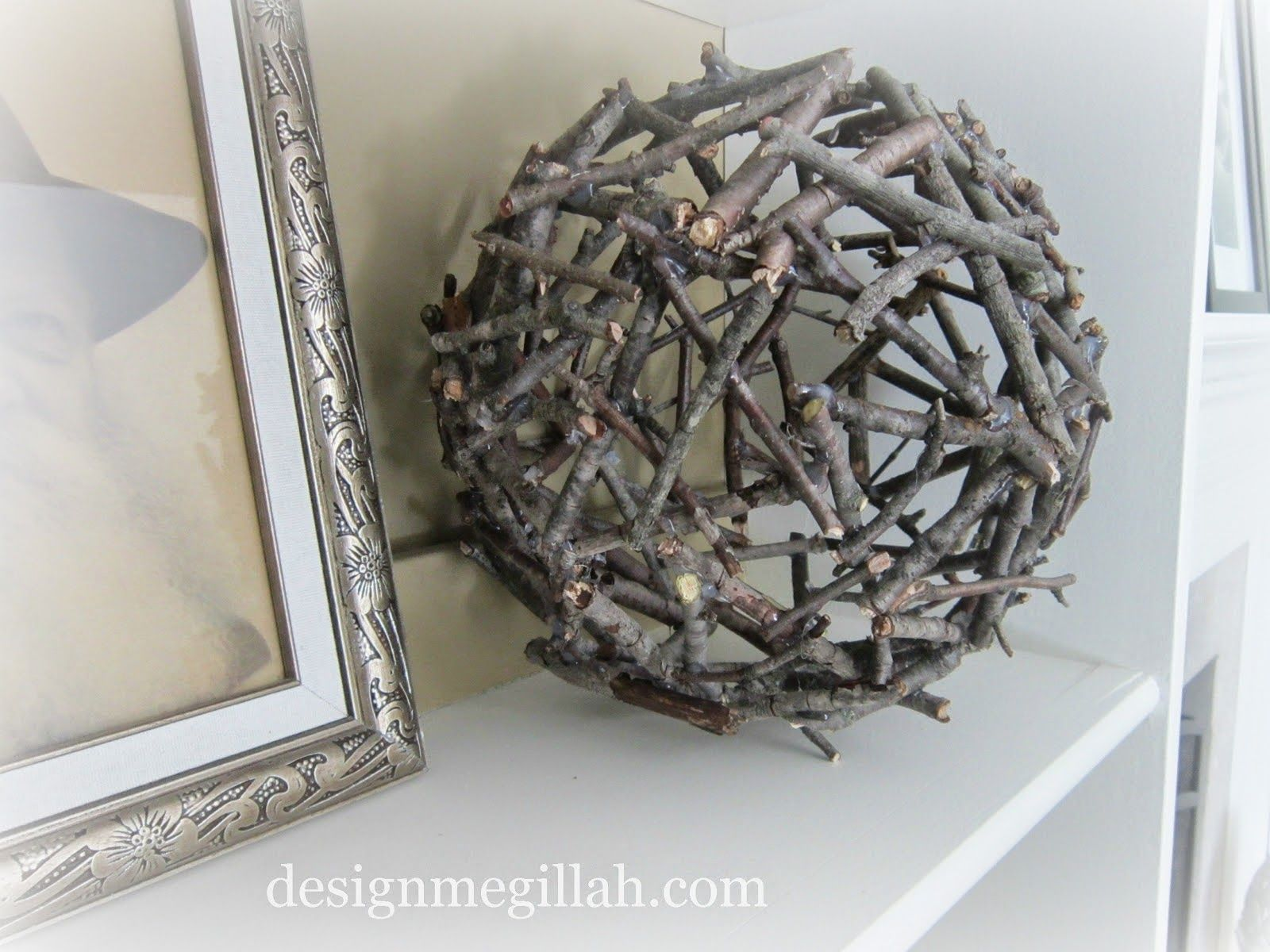 Making Decorative Ball Of Twigs Twig Crafts Twig Art Craft Stick Crafts