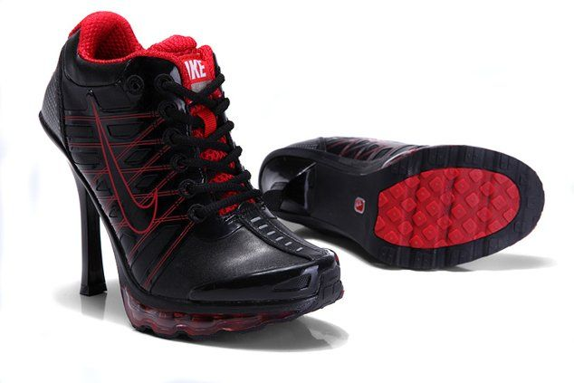 new arrival 780af 9a03b Nike Air Max 2012 Heels Shoes Black Red