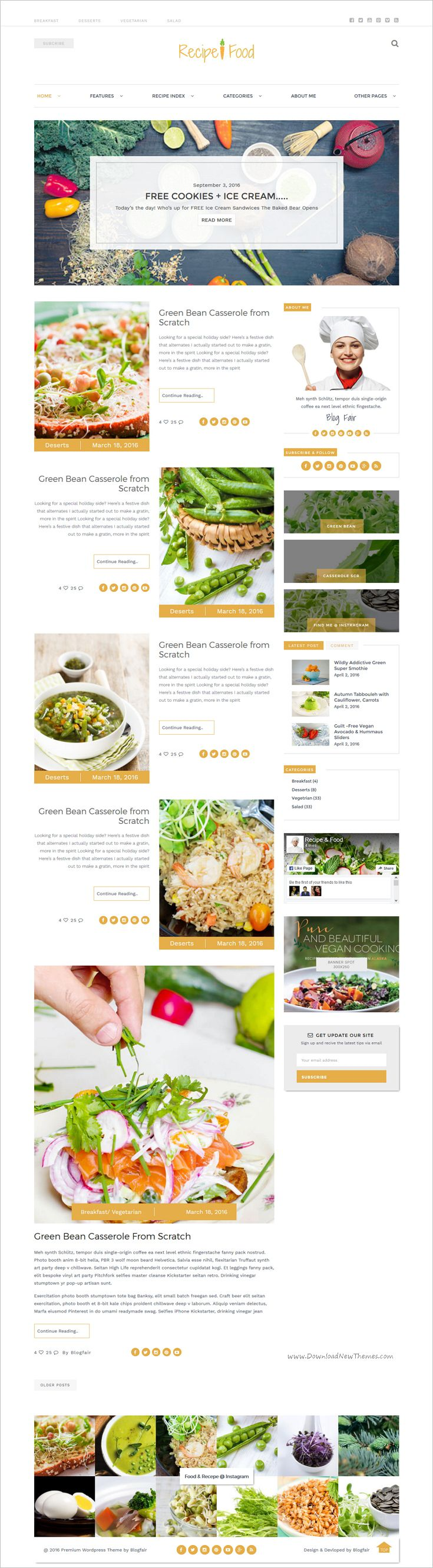 Recipe food bootstrap template forumfinder Gallery