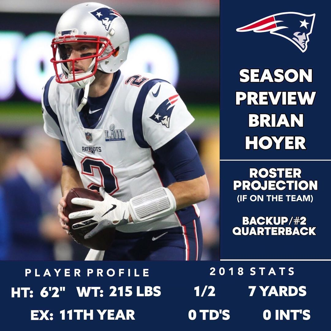 1 275 Likes 19 Comments New England Patriots Fan Page Patr1ots On Instagram 2019 Season Preview Brian H New England Patriots Patriots Fans Brian Hoyer