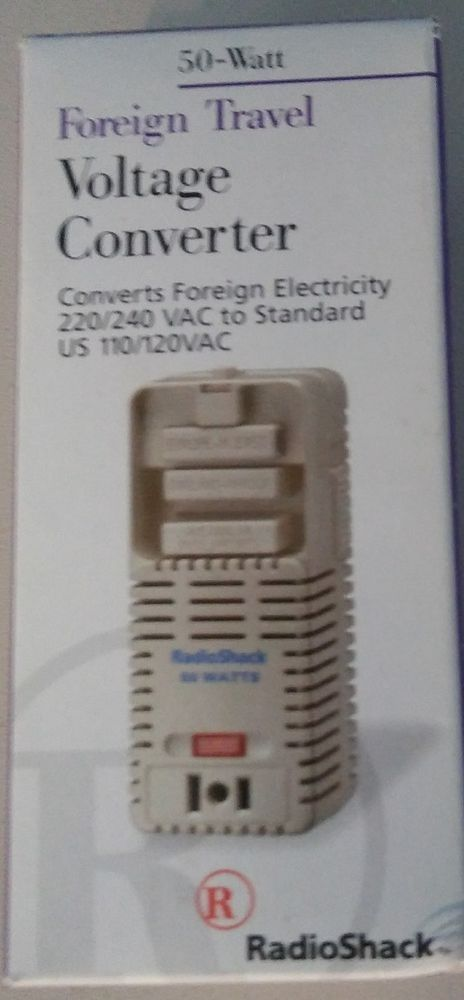 Radio Shack Foreign Travel Voltage Converter Multi-Nation Adapter ...