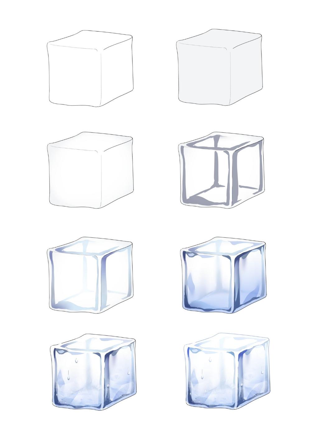 ʚ Kkana ɞ On Twitter In 2021 Ice Cube Drawing Art Tutorials Art Tips