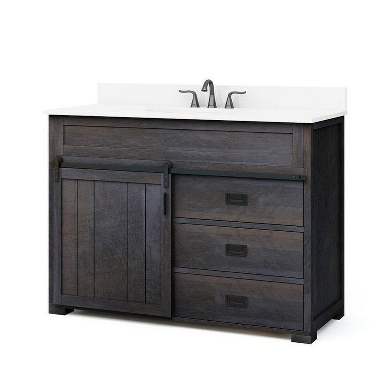 Sliding barn door bathroom vanity dakota vanity morriston - Menards bathroom vanities 48 inches ...