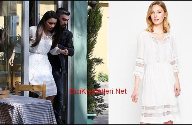 Icerde 33 Bolum Eylem Beyaz Elbise Kiyafet The Dress Elbise