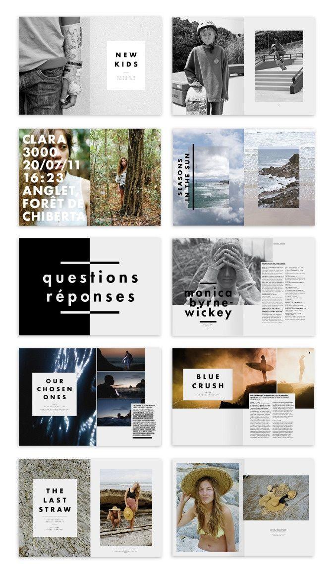 inspiration contenu graphique  grille  photo  typographie