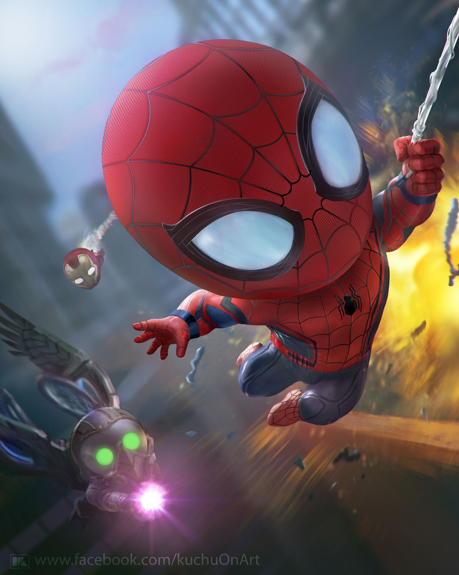 Chibi Hulk Cute Wallpaper Spider Man Homecoming Fan Art Hero Haaa Pinterest