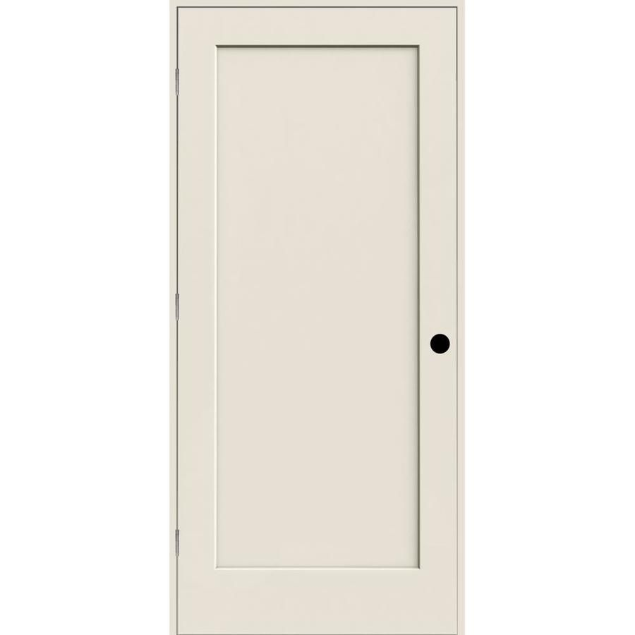 Reliabilt White 1 Panel Hollow Core Wood Single Pre Hung Door Common 28 In X 80 In Actual 29 375 In X 81 Office Interior Design Primed Doors Popular Decor