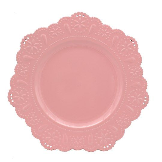 Shop For The Pink Doily Scalloped Edge Charger By Ashland At