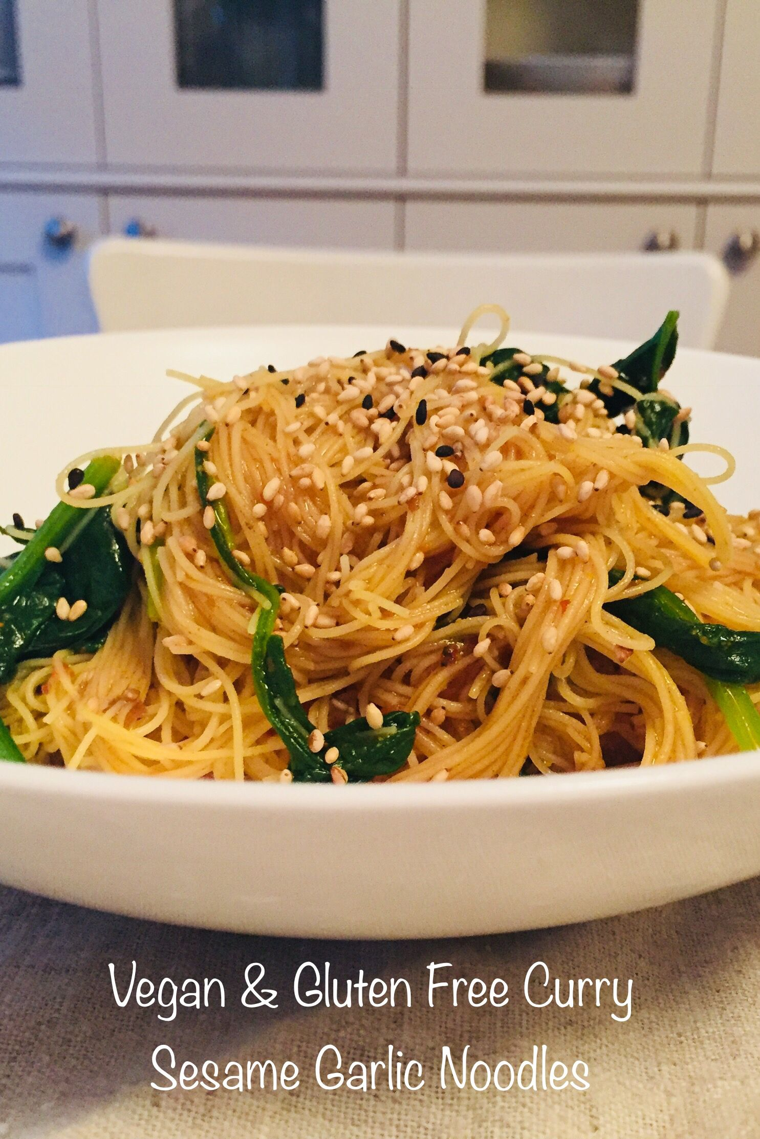 This Healthy Vegan Gluten Free Curry Sesame Garlic Brown