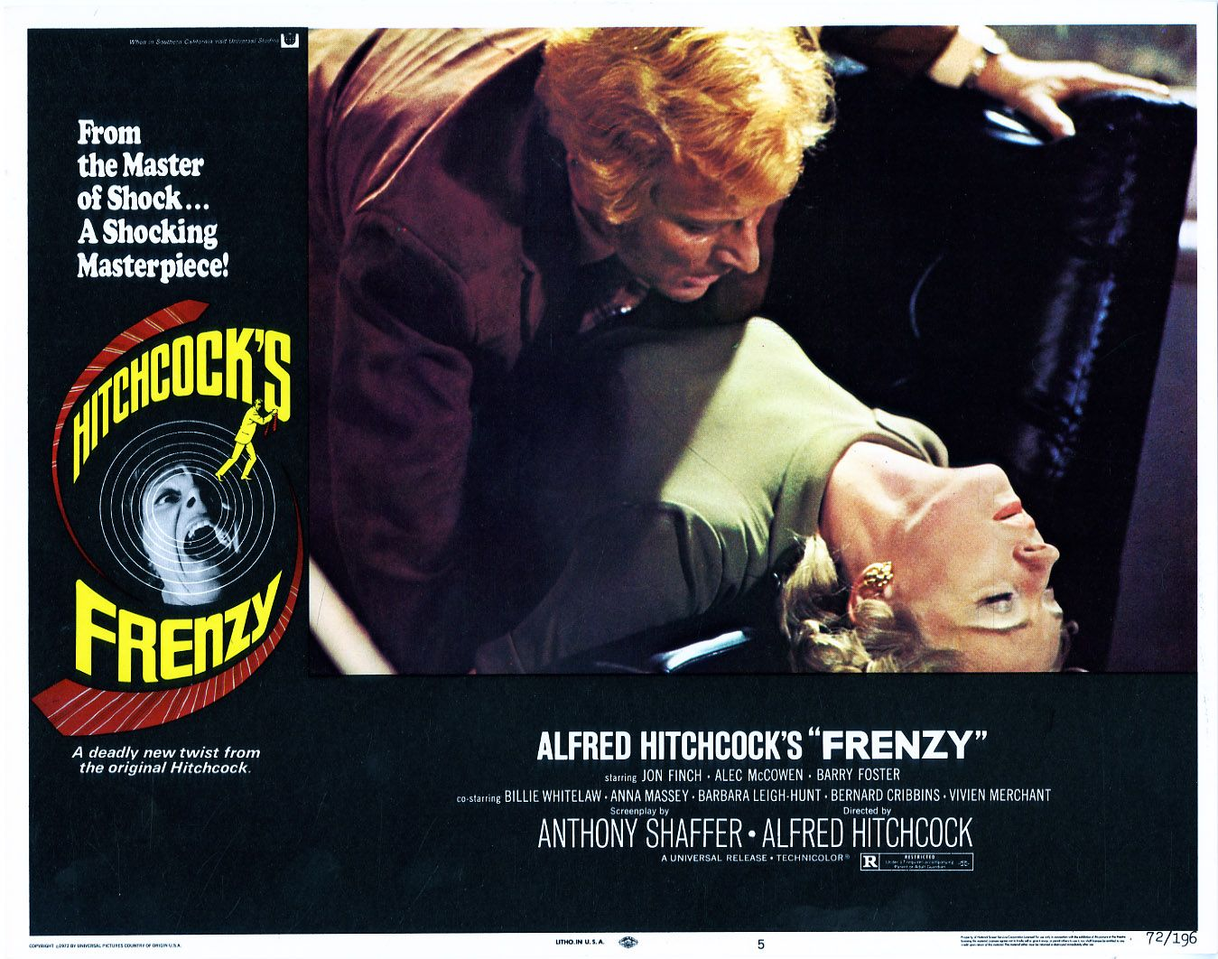 Lobbycard For Frenzy 1972 Alfred Hitchcock Hitchcock