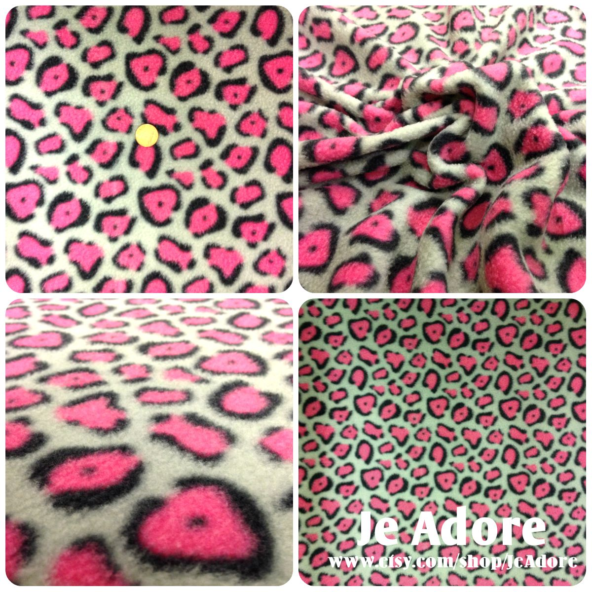 Cozzy polar fleece fabric leopard print for your hand tied blankets