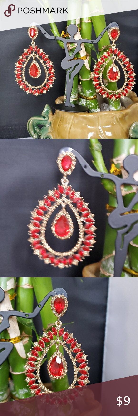 Fancy Earring Hot selling Indian model earrings   Gorgeous look with beautiful r... -  Fancy Earring Hot selling Indian model earrings   Gorgeous look with beautiful red color stone work - #antiquejewelry #beautiful #bridaljewelry #earring #earrings #fancy #gorgeous #Hot #indian #indianjewelry #Model #selling