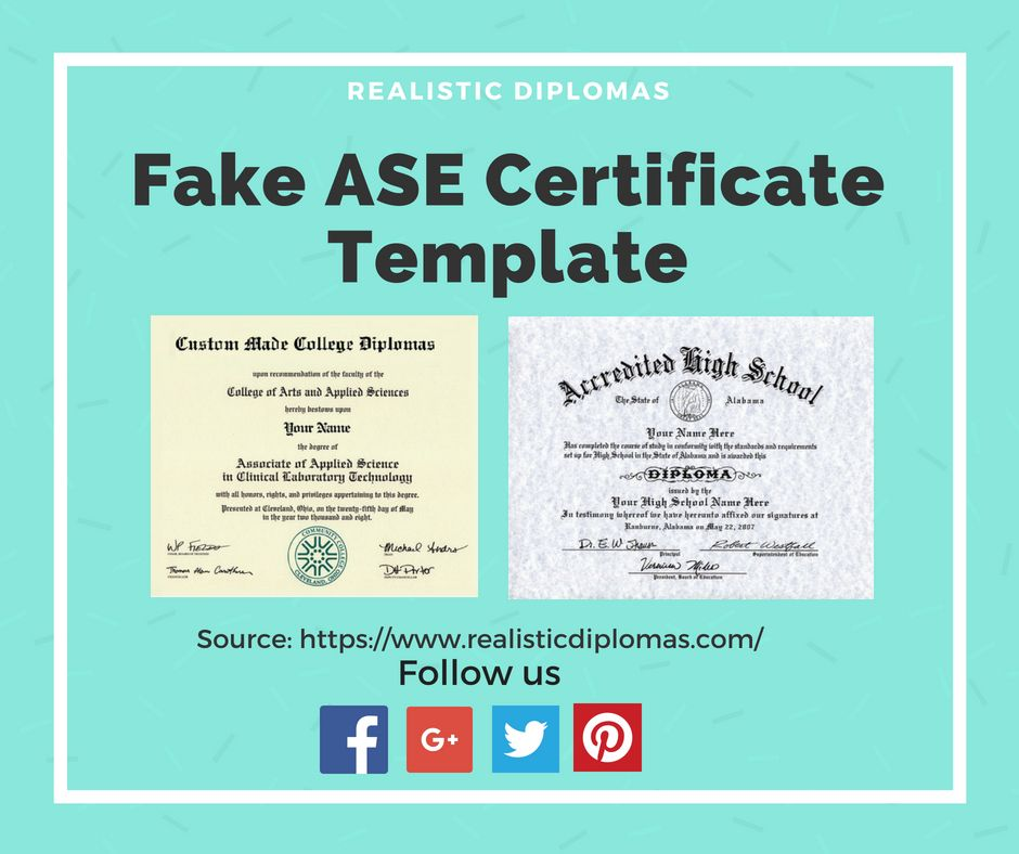 looking to buy a fake ase certificate template online to gain better ...