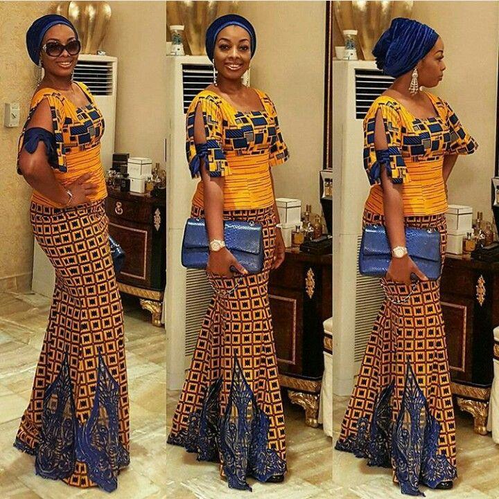 b732e0d20 Flair ankara blouse and maxi fishtail skirt | African Fashion ...